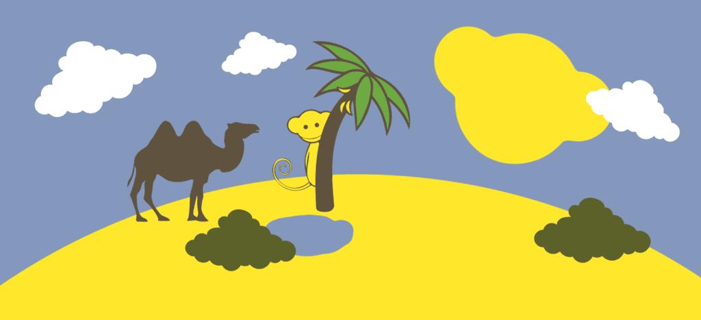 Sand, öknar och miljö - vårt näst sista miljötema
